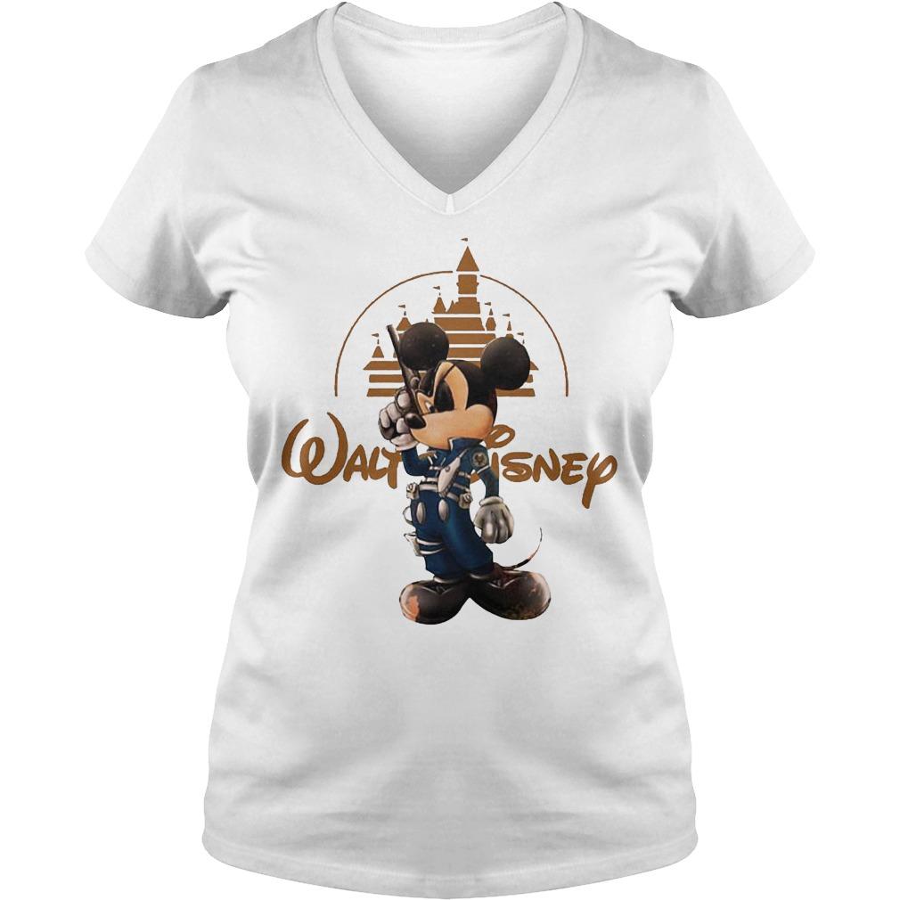 Walt Disney Misckey Mouse Captain V Neck
