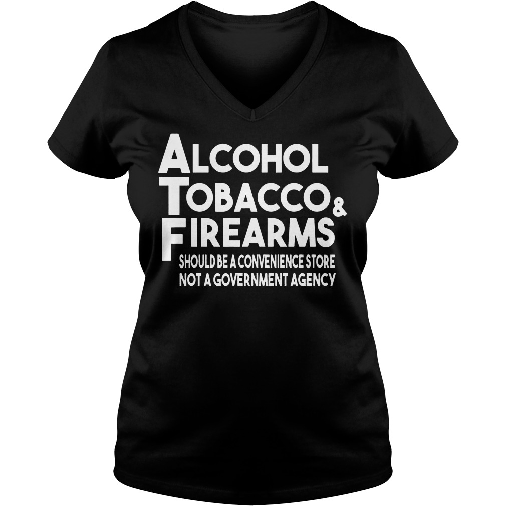 Alcohol Tobacco And Firearms V Neck