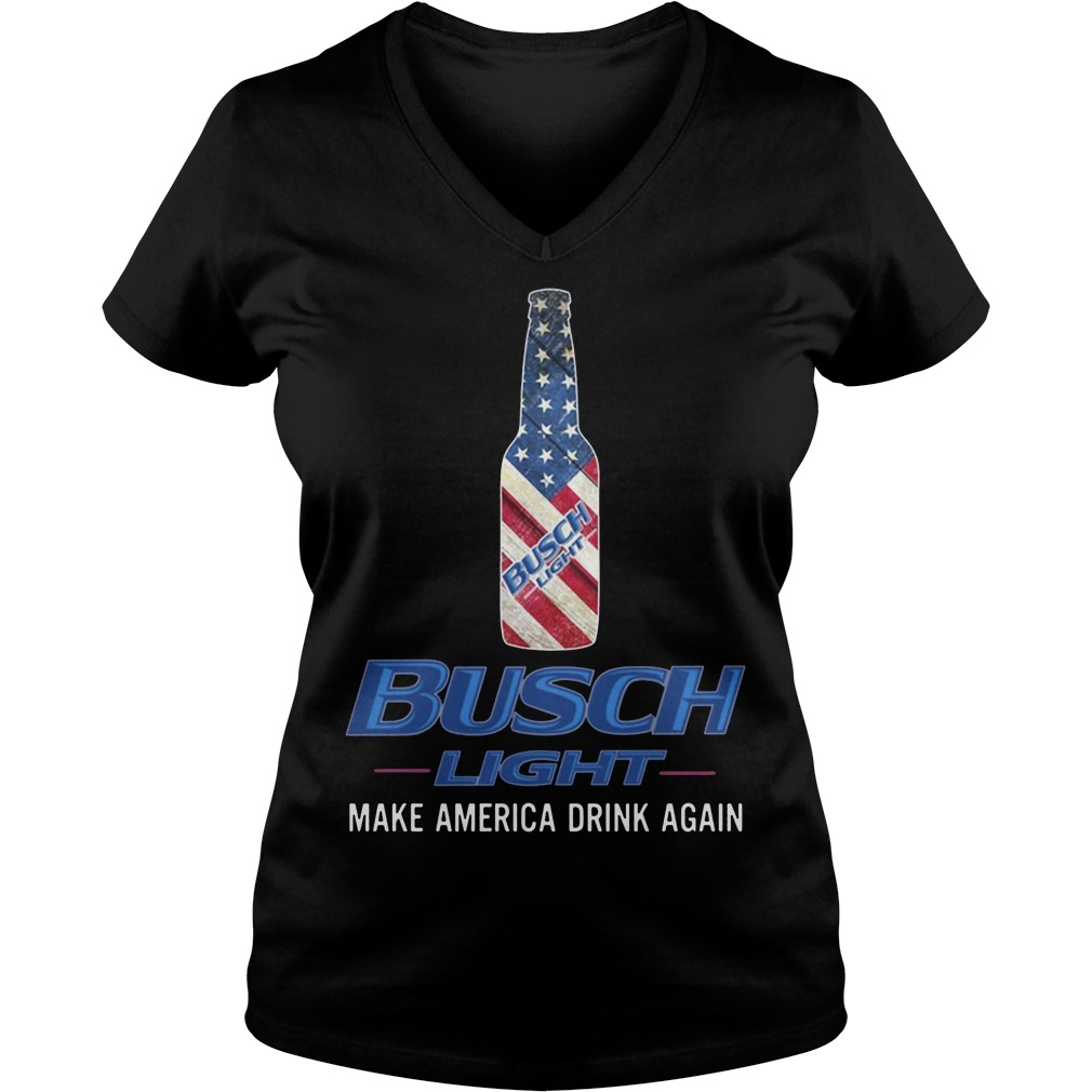Busch Light Make America Drink Again Shirt V Neck