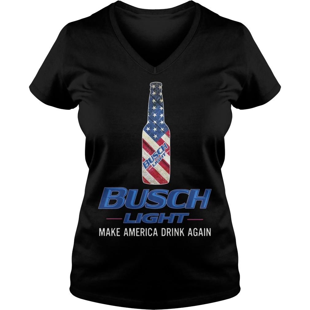 Busch Light Make America Drink Again Shirt V Neck