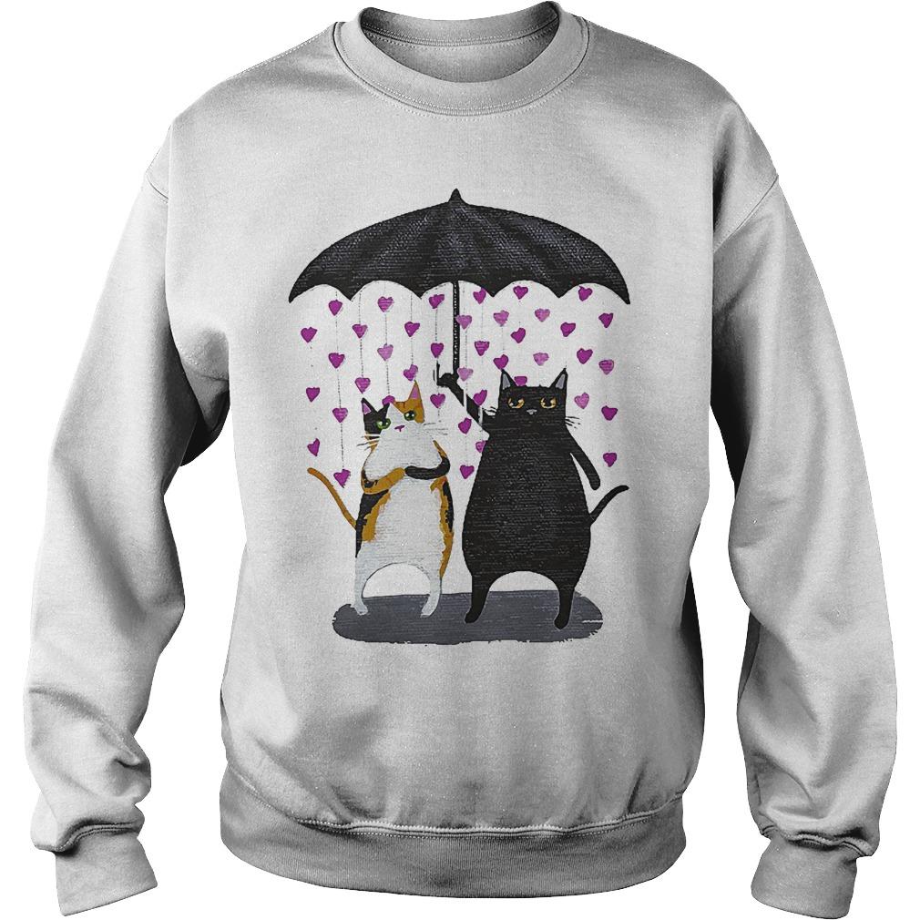 Cat Under Heart Rain Umbrella Sweater