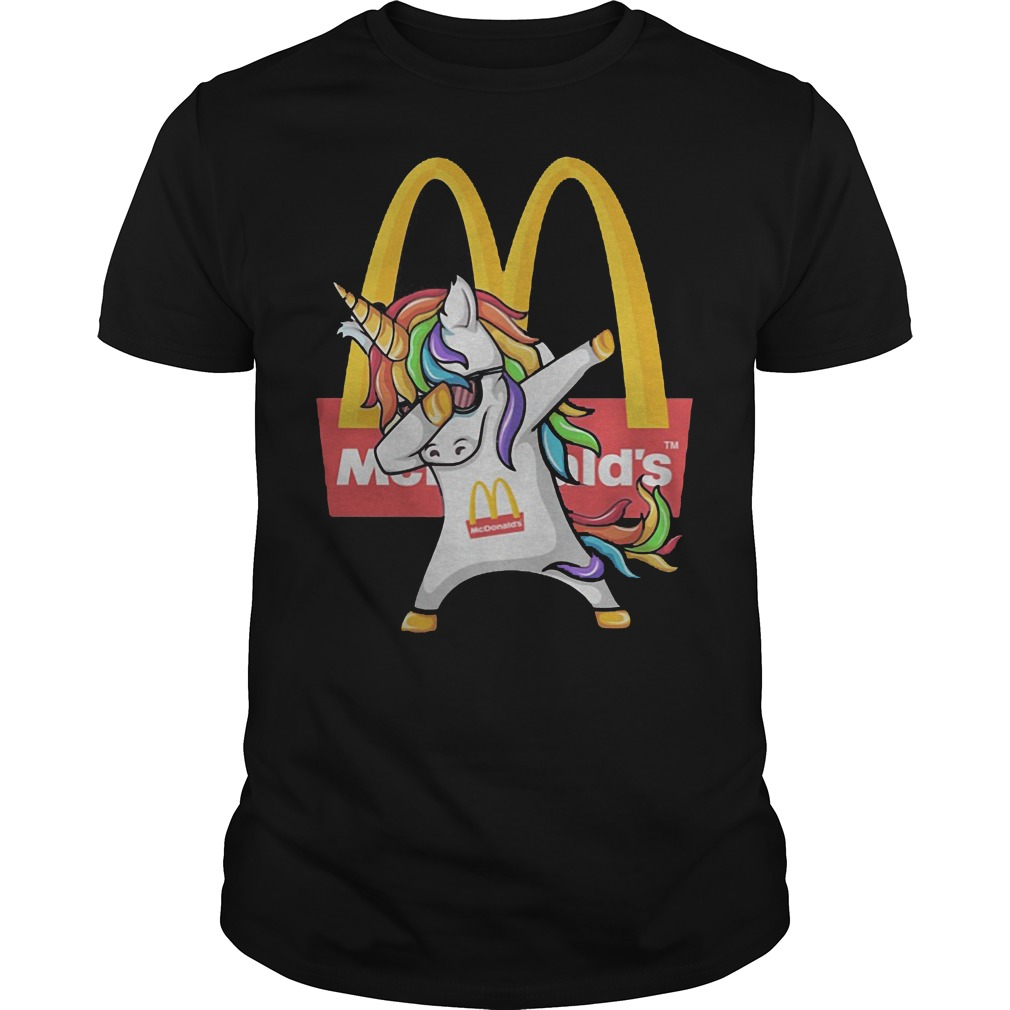 Dabbing Unicorn Mcdonald's Shirt