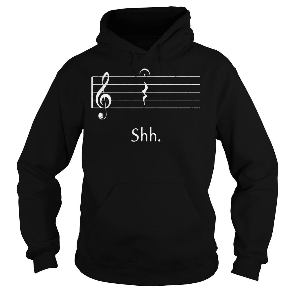 Funny Music Shirt Shh Quarter Rest Hoodie