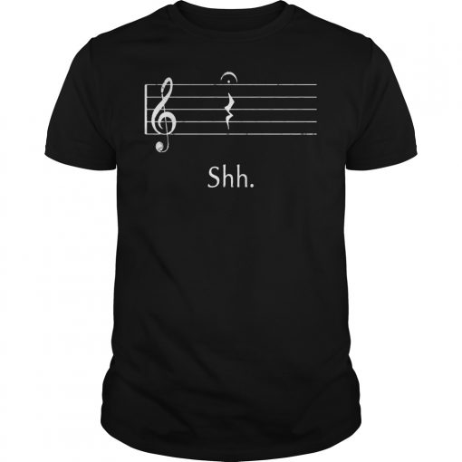 Funny Music Shirt Shh Quarter Rest Shirt