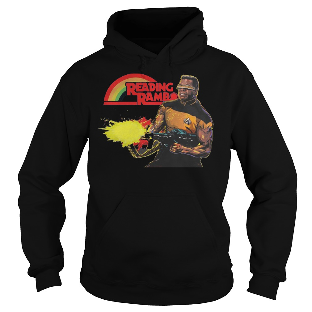 Geordi La Forge Reading Rainbow Shirt Hoodie