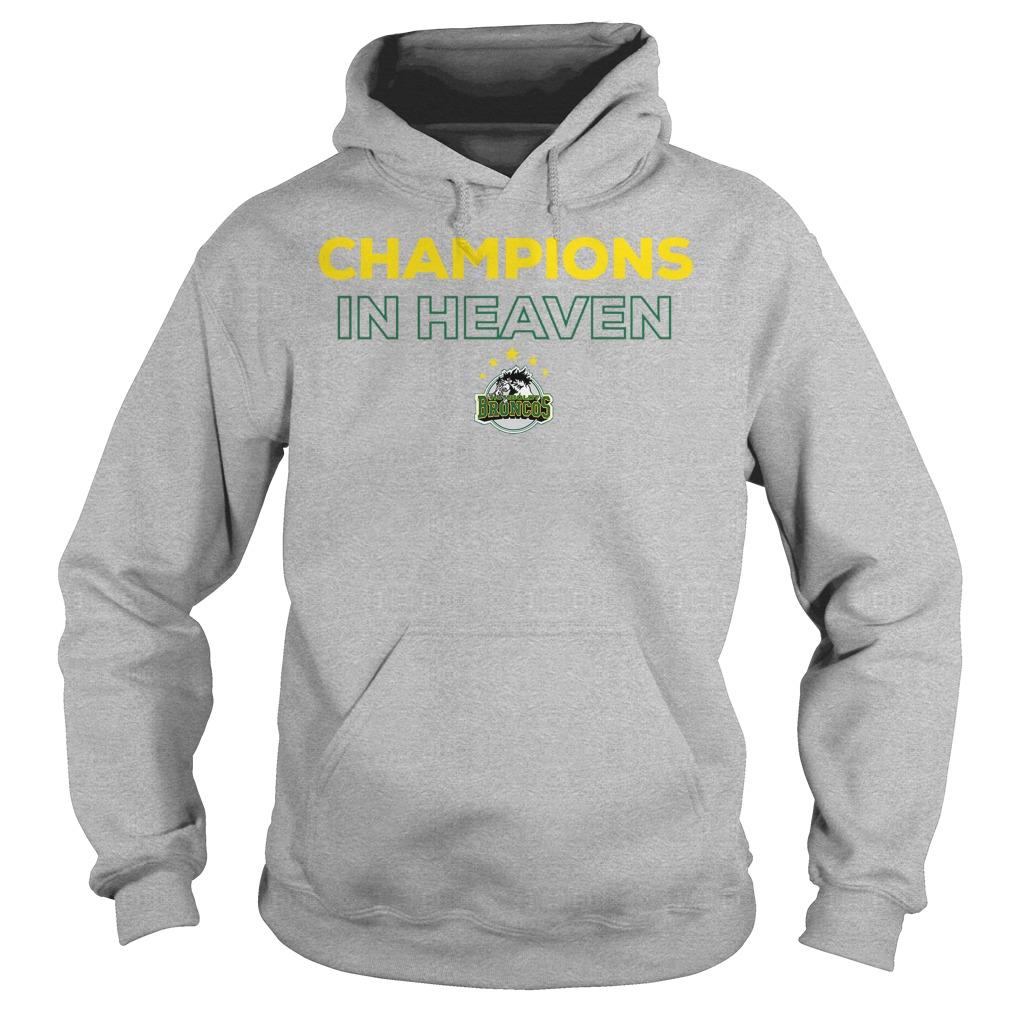 Humboldt Broncos Champion In Heaven Hoodie