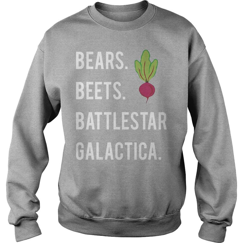 Jim Halpert Bears Beets Battlestar Galactica Sweater