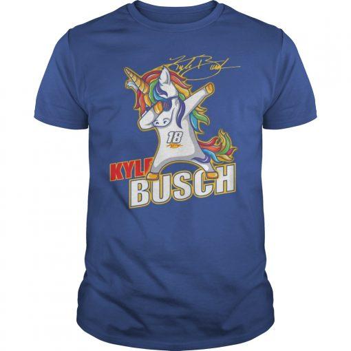 Kyle Busch Unicorn Dabbing Shirt