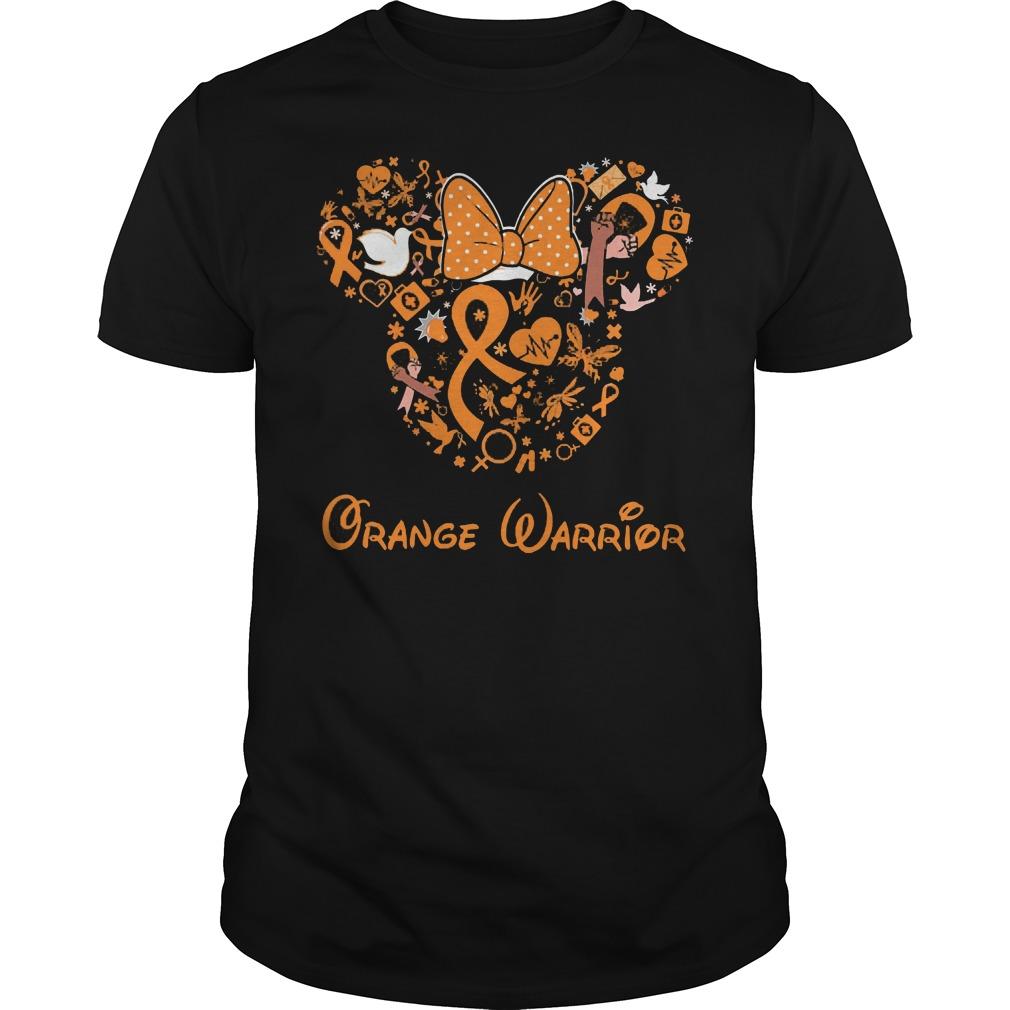 Mickey Mouse Orange Warrior Shirt