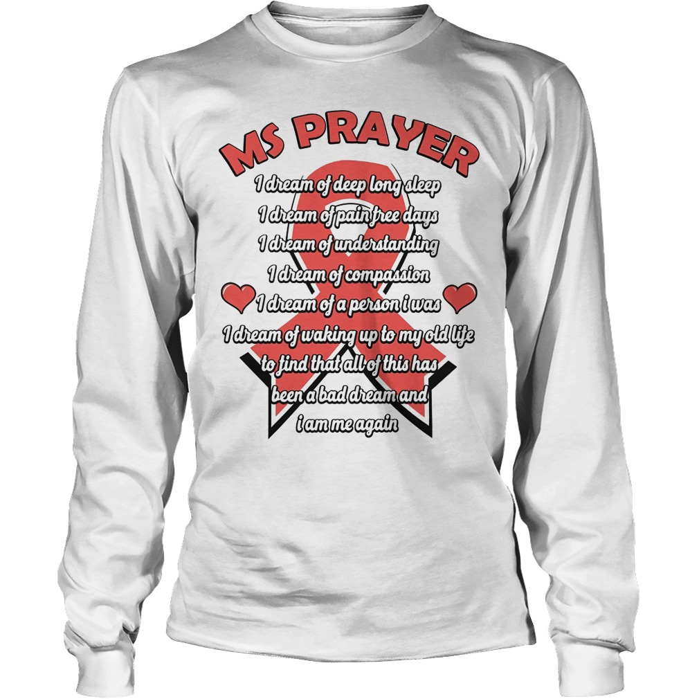 Ms Prayer Breast Cancer Longsleeve