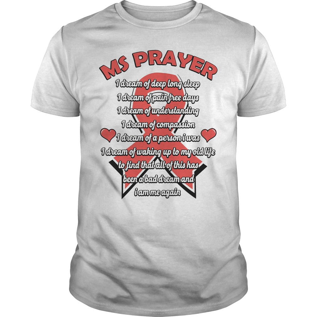 Ms Prayer Breast Cancer Shirt