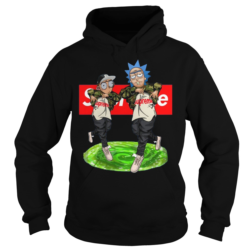 New Hiphop Style Rick And Morty Supreme Hoodie