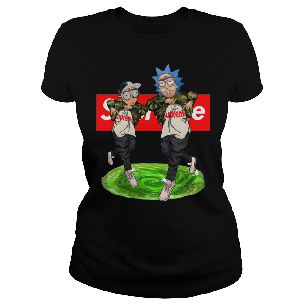 New Hiphop Style Rick And Morty Supreme Ladies