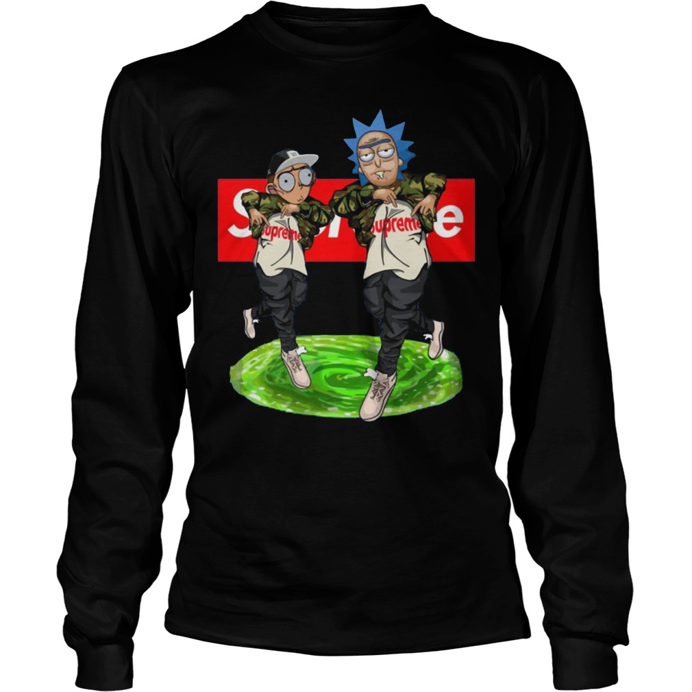 New Hiphop Style Rick And Morty Supreme Longsleeve