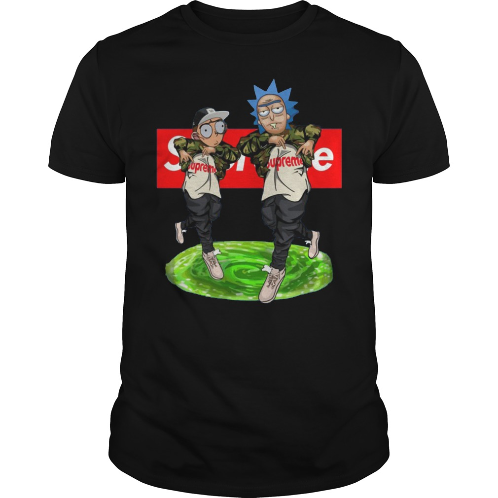 New Hiphop Style Rick And Morty Supreme Shirt