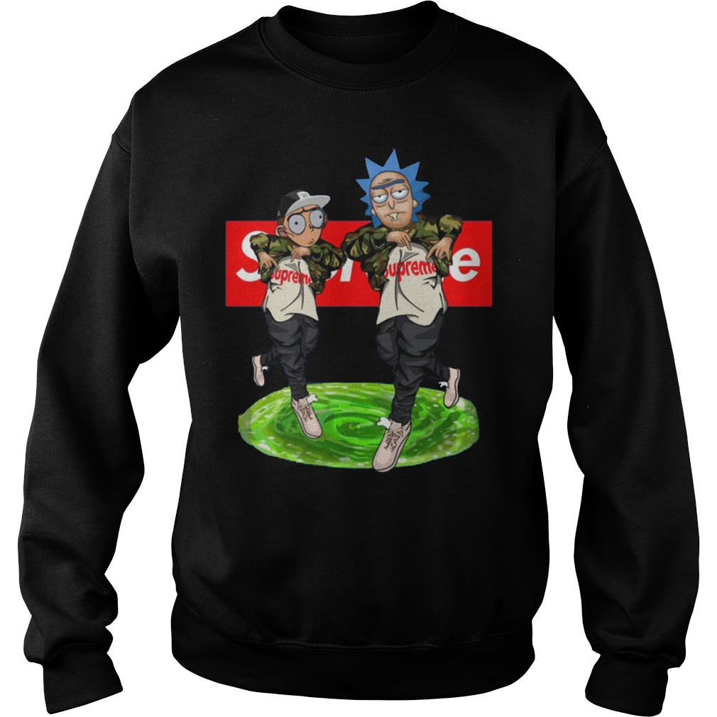 New Hiphop Style Rick And Morty Supreme Sweater