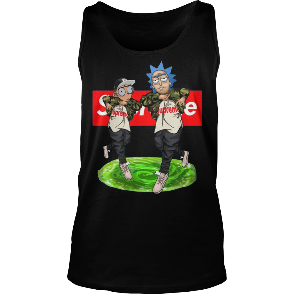 New Hiphop Style Rick And Morty Supreme Tanktop