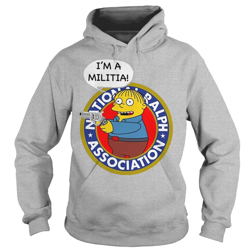Ralph Wiggum I Am A Militia Hoodie