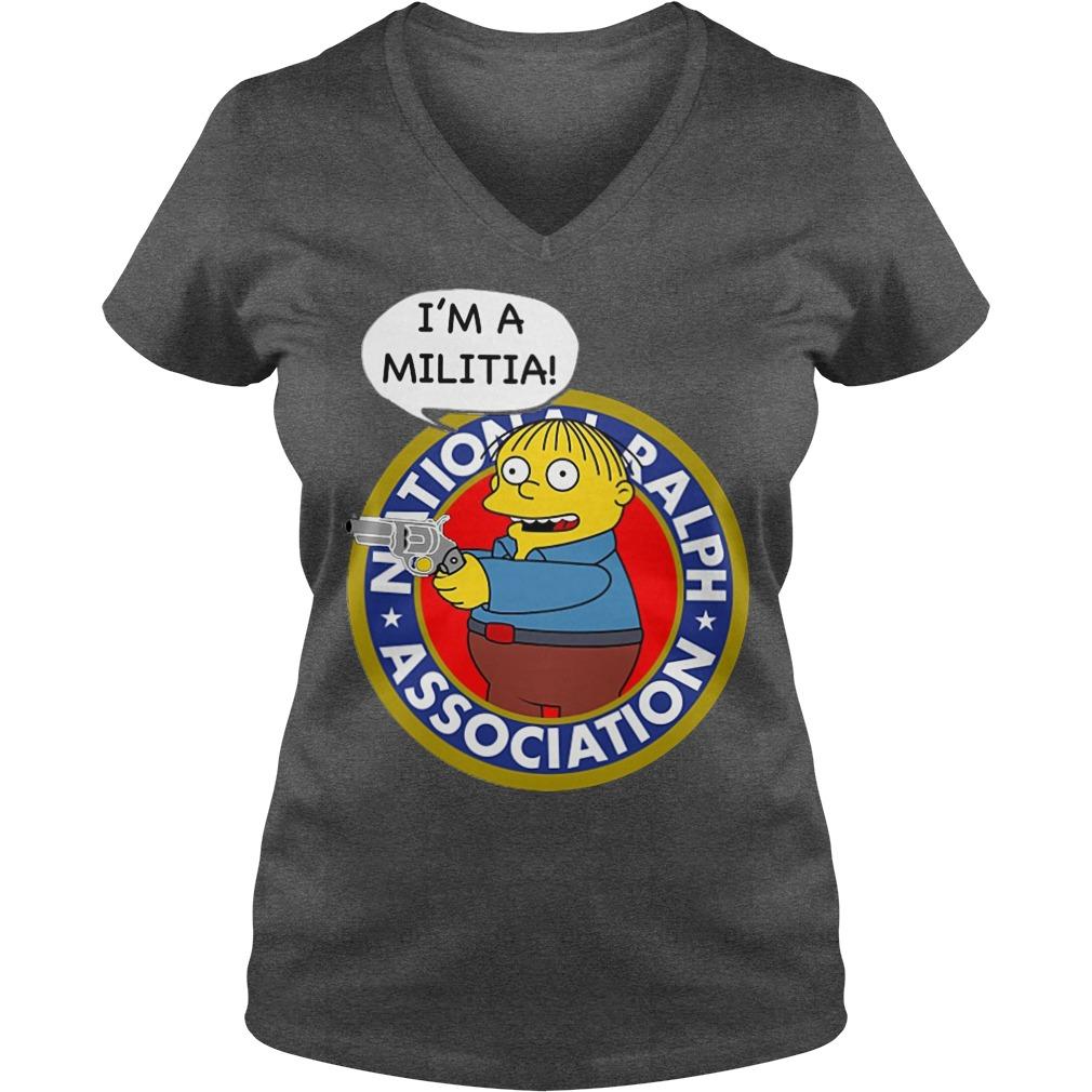 Ralph Wiggum I Am A Militia V Neck
