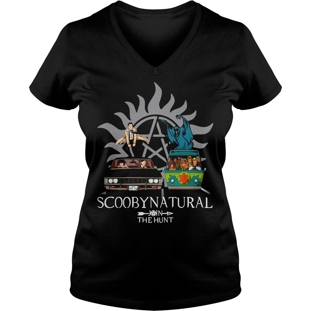 Scooby Natural Join The Hunt V Neck