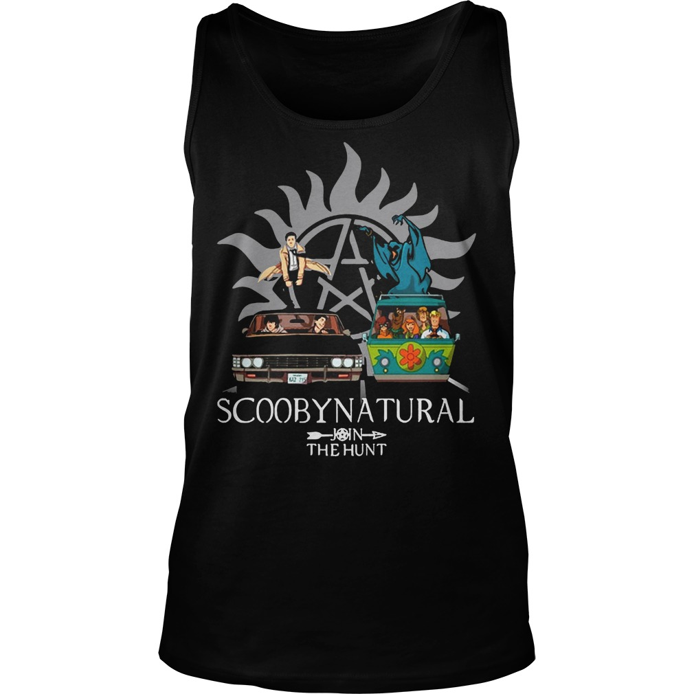 Scooby Natural Join The Hunt Tanktop