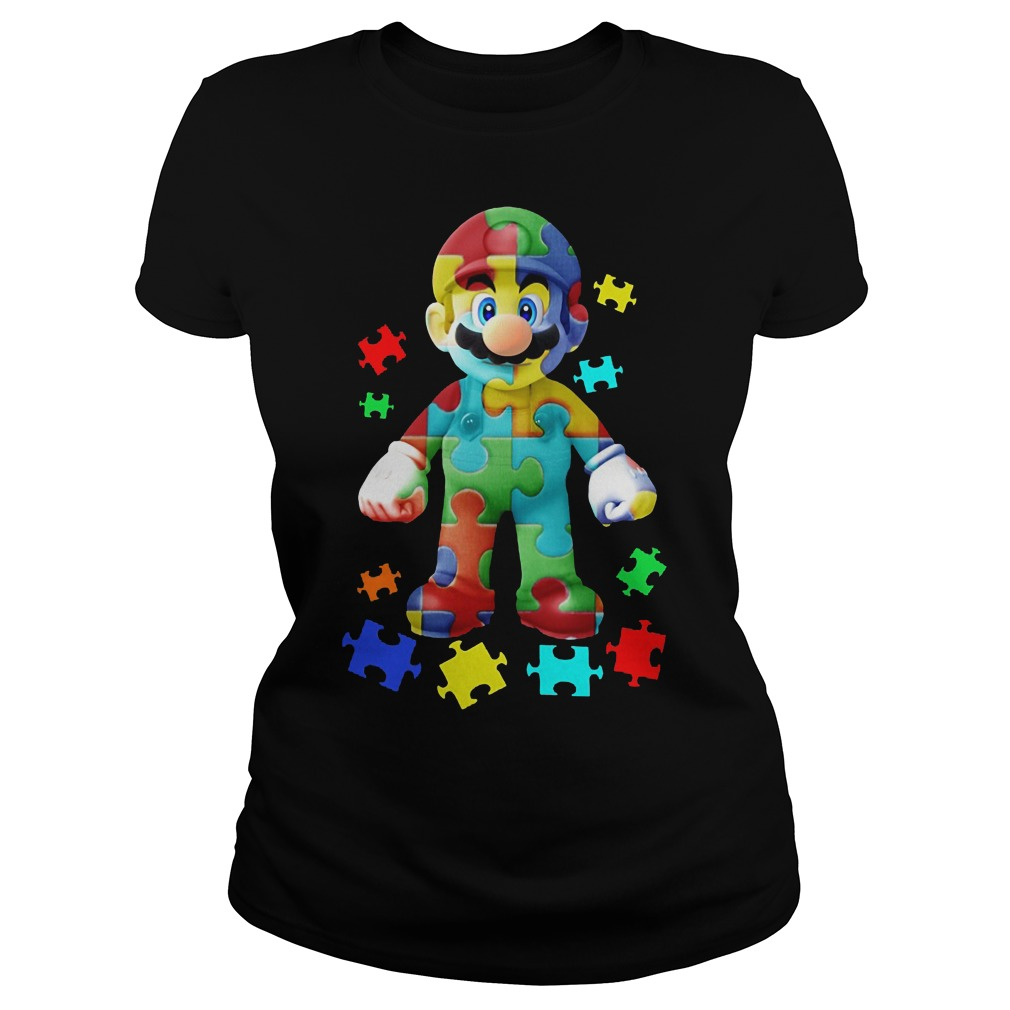 Super Mario Autism Awareness Shirt Ladies