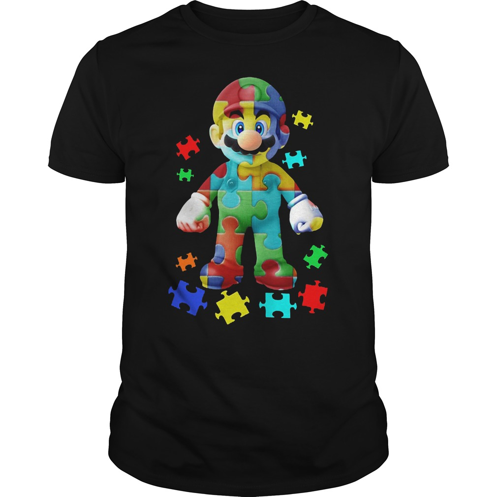 Super Mario Autism Awareness Shirt