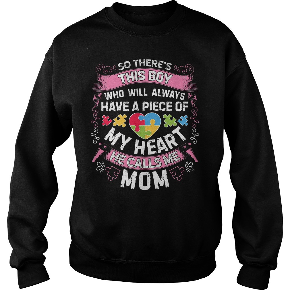 This Boy He Call Me Mom Autism Awareness Sweater