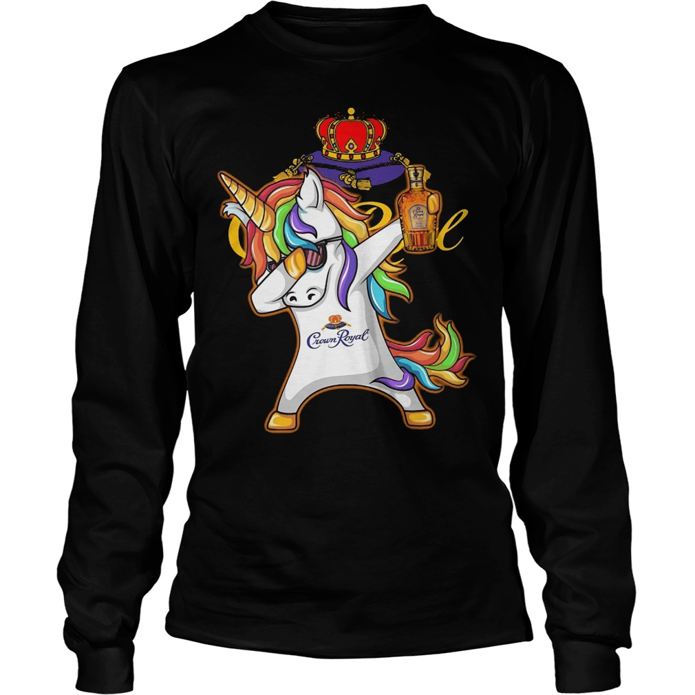 Unicorn Dabbing Crown Royal Wine Longsleeve