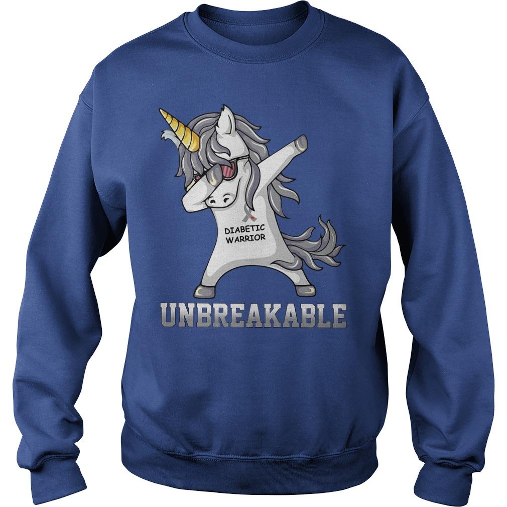 Unicorn Dabbing Diabettic Warrior Unbreakable Sweater