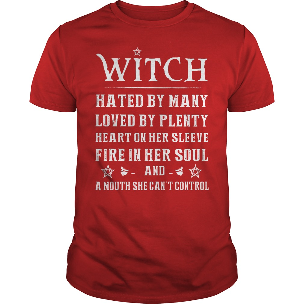 Witch Hated By Many Loved By Plenty Heart On Her Sleeve Shirt