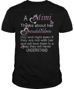 A Mimi Thinks About Her Grandchildren Shirt