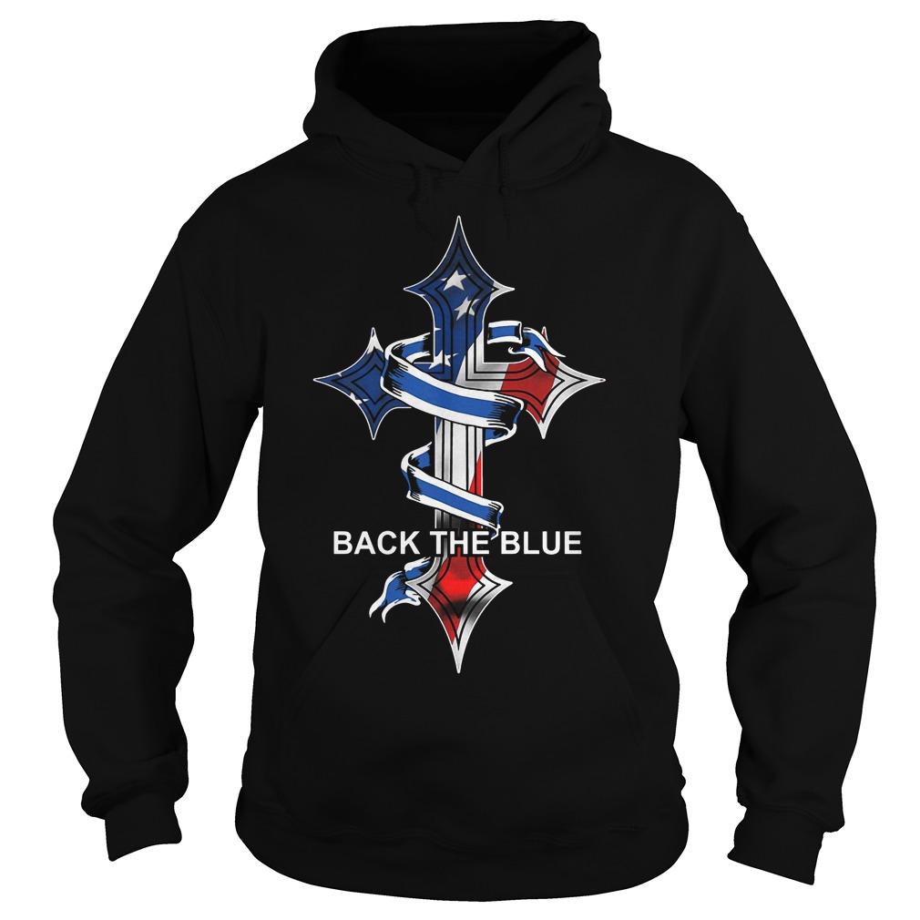 Cross Back The Blue Hoodie