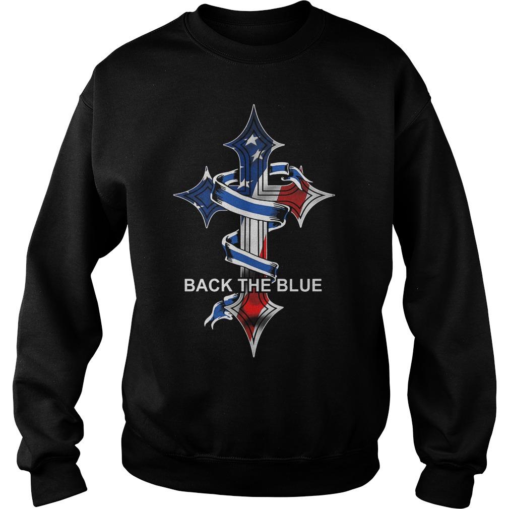 Cross Back The Blue Sweater