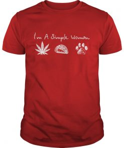 I'm A Simple Woman Cannabis And Dogs Paw Shirt