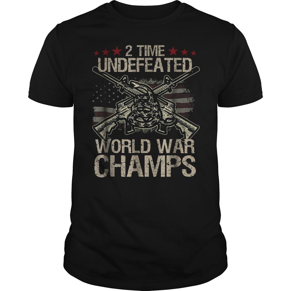 2 Time World War Champs T Shirt