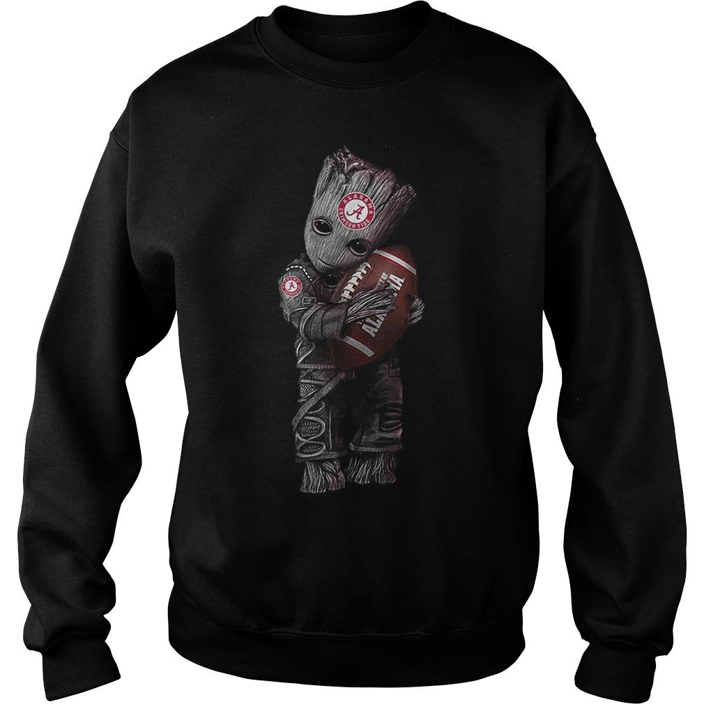 Baby Groot Hugs Alabama Crimson Tide Sweater