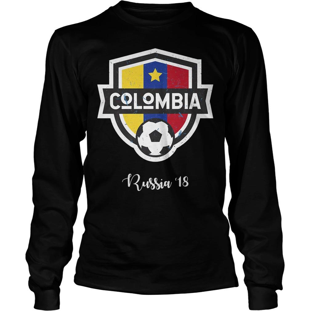 Colombia Jersey Russia World Cup 2018 Longsleeve