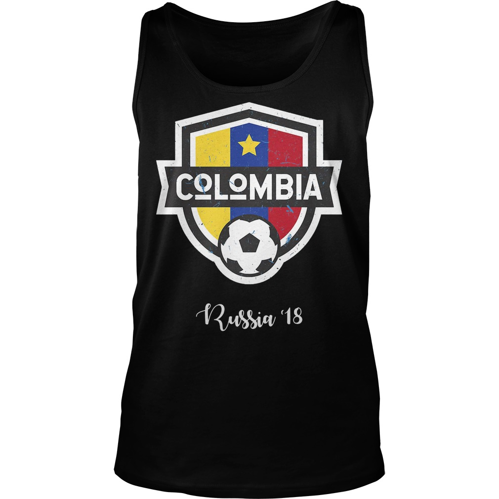 Colombia Jersey Russia World Cup 2018 Tanktop