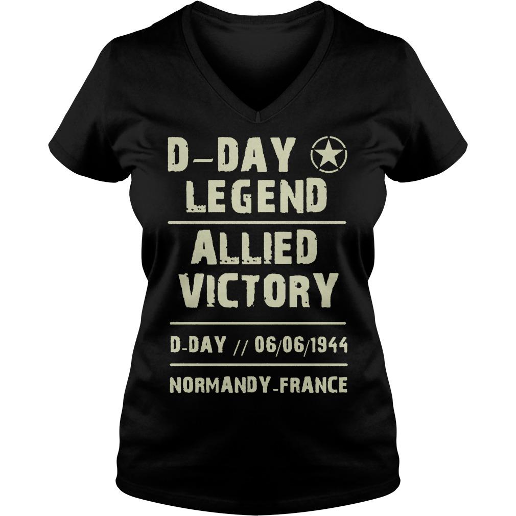 D Day Legend Allied Victory 06061944 V Neck