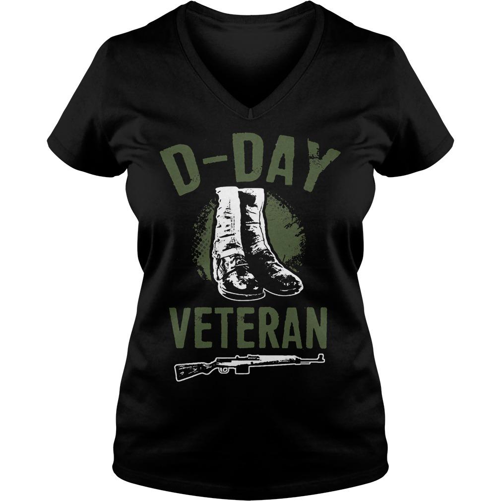 D Day Veteran Perfect Gift For Veterans V Neck