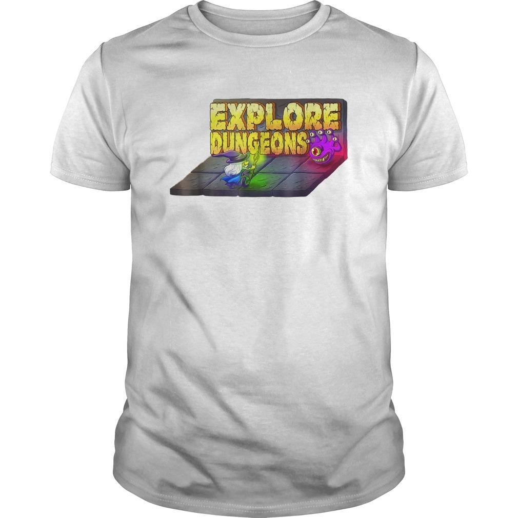 Explore Dungeons Logo Tee T Shirt
