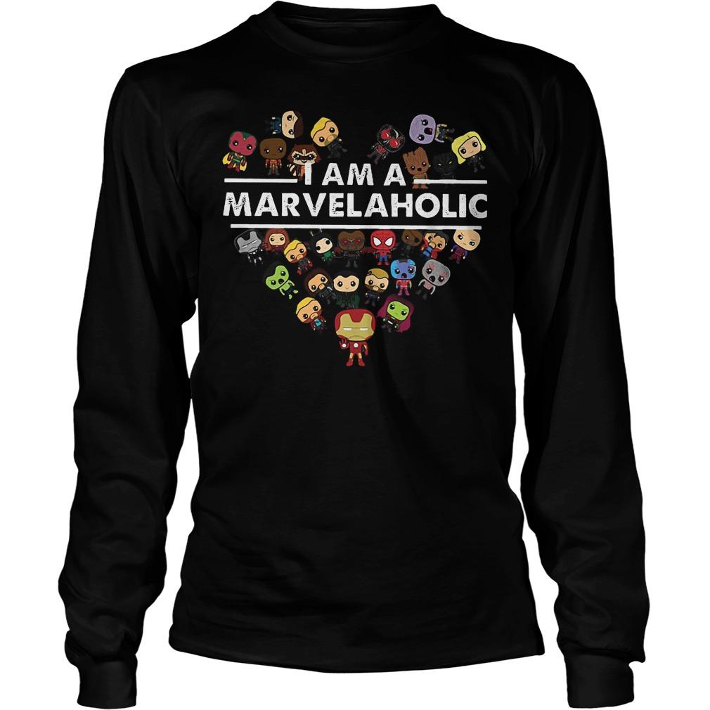 Marvel Aholic I Am A Marvelaholic Longsleeve