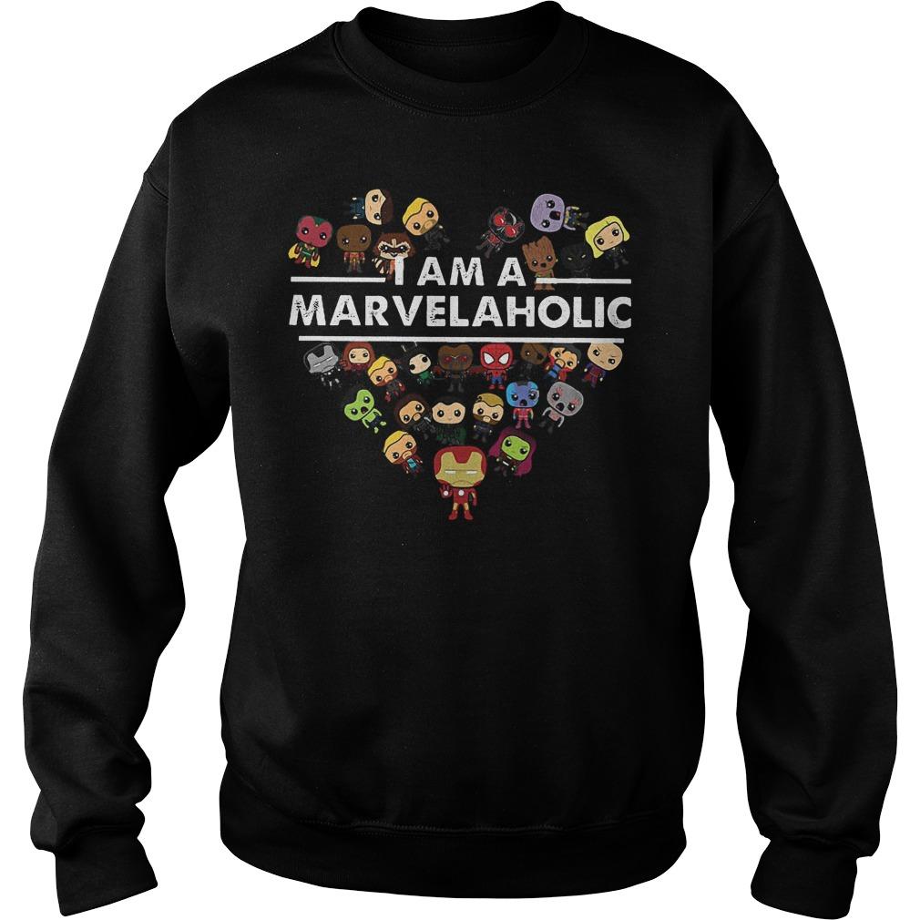 Marvel Aholic I Am A Marvelaholic Sweater