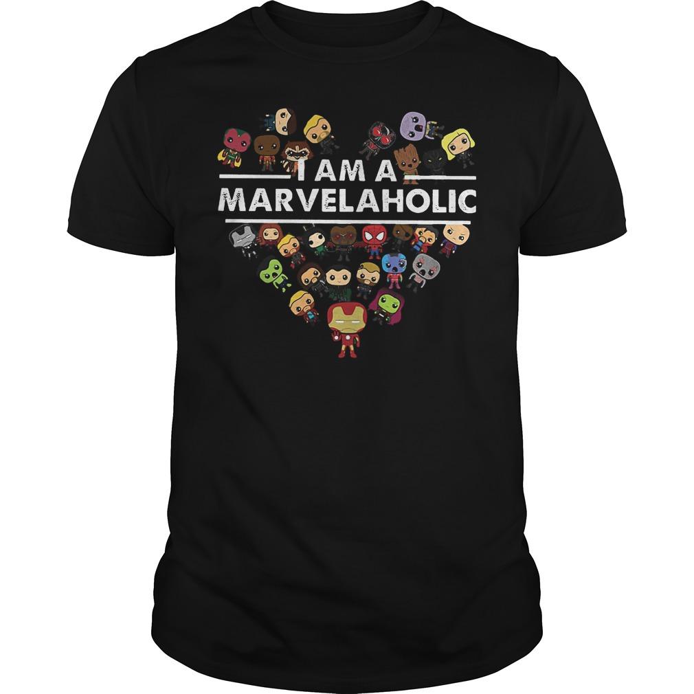 Marvel Aholic I Am A Marvelaholic T Shirt