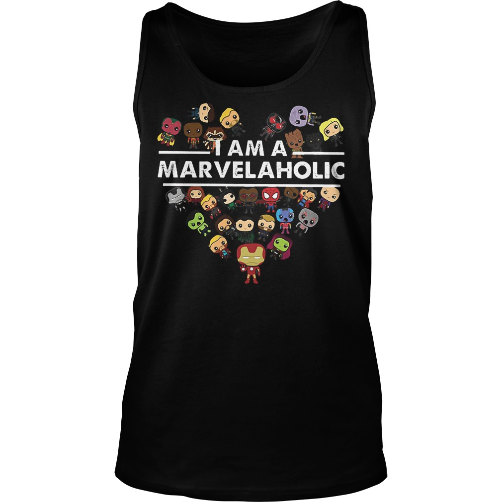 Marvel Aholic I Am A Marvelaholic Tanktop
