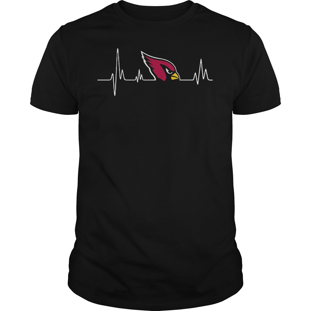 Arizona Cardinals Heartbeat T Shirt Guys Tee.jpg