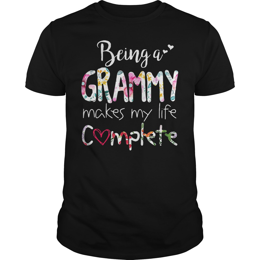 Being A Grammy Makes My Life Complete T-Shirt Classic Guys / Unisex Tee