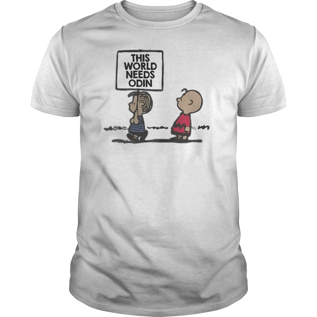 Charlie Brown This World Needs Odin T-Shirt Classic Guys / Unisex Tee