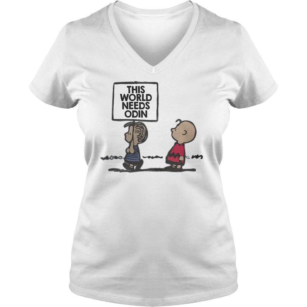 Charlie Brown This World Needs Odin T-Shirt Ladies V-Neck